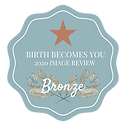 Birth Becomes Her 2020 Image Review badge with Bronze Star for Bronze level winners of birth photgraphy contest