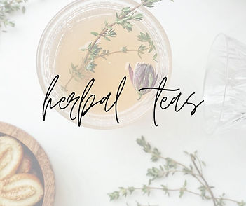 cup of tea with herbs and flowers with text overlay herbal tea for pregnancy birth postpartum and breastfeeding
