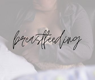 breastfeeding mother nursing her newborn with text overlay breastfeeding products for new mothers by earth mama organics