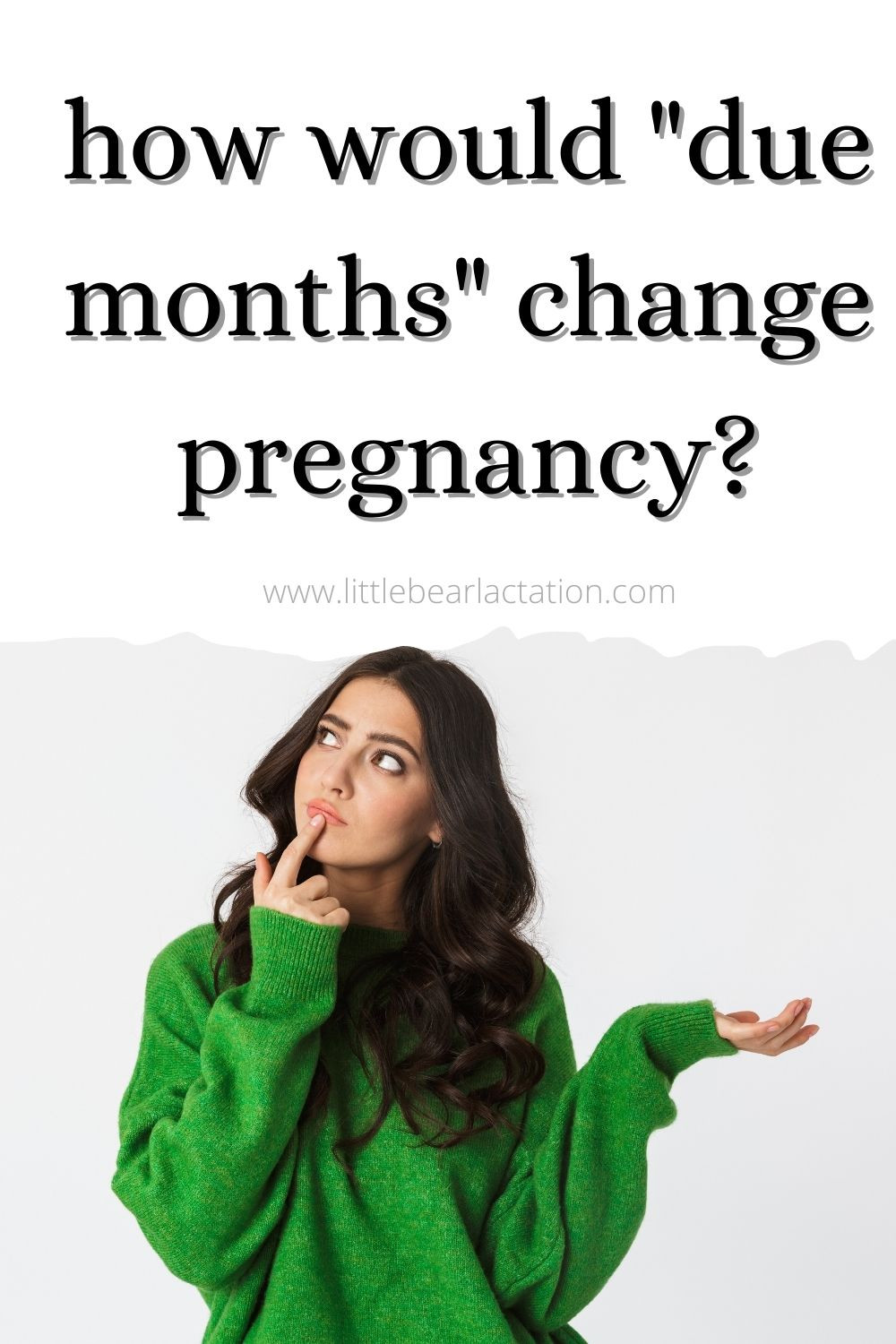 Pregnancy blog answers new mom FAQ how would due months change pregnancy instead of due dates and are due dates even accurate mother wonders with shrugged shoulders