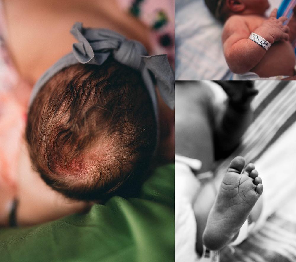 Newborn Baby Head, Newborn Baby Foot, Newborn Arm, Hospital Birth