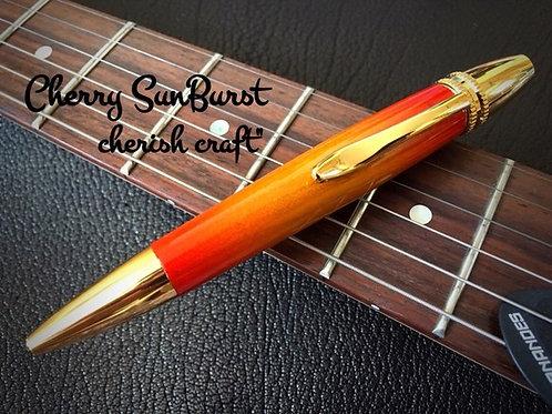 Handmadeボールペン☆メープルSunBurstギター塗装☆【名入れ可】【送料無料】 ※ネコポス配送可