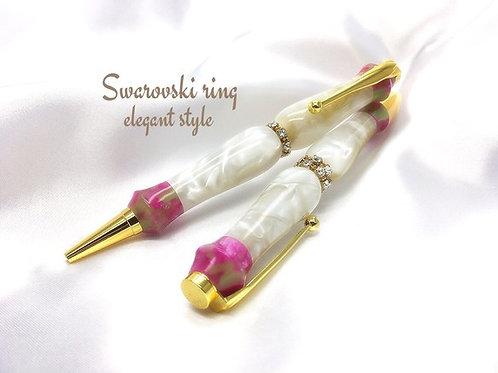 スワロフスキーリング☆Elegant style☆楊貴妃♪手作りボールペン♪【送料無料】  ※ネコポス配送可