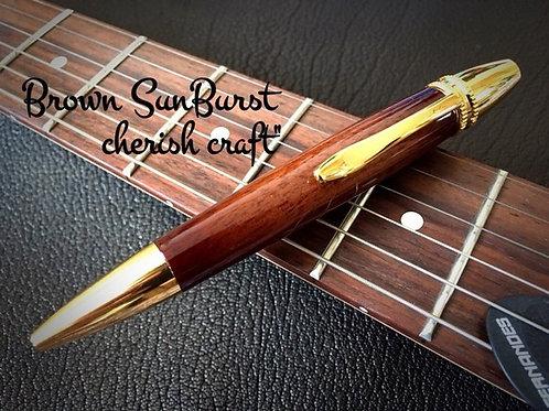 Handmadeボールペン☆ウォールナットSunBurstギター塗装☆【名入れ可】【送料無料】 ※ネコポス配送可