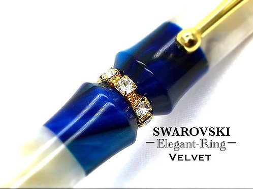 Velvet スワロフスキーElegant-ring ボールペン  ※ネコポス配送可