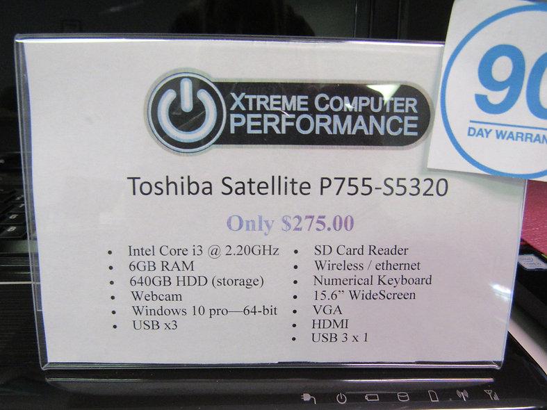 Toshiba Satellite P755-S5320