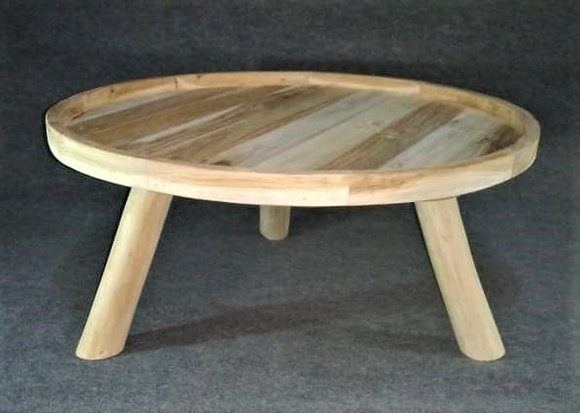 Table basse en teck naturel
