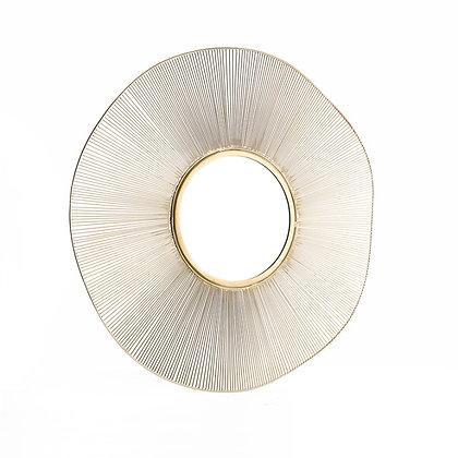 Miroir avec filament doré