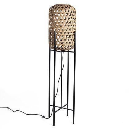 LAMPE METAL NOIR /BAMBOO