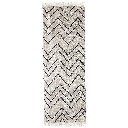 Tapis en coton motif zigzag