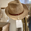 Thumbnail: Chapeau en raffia & Cuir Sovani