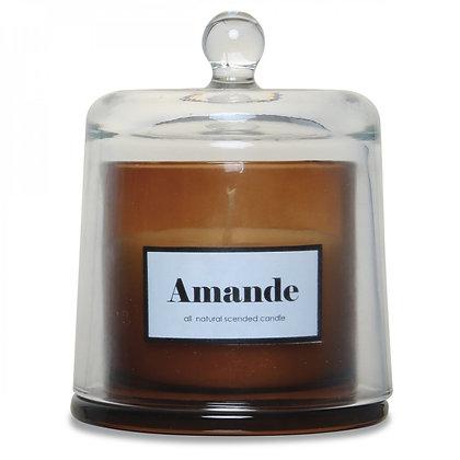 Bougie cloche ambre parfum amande douce