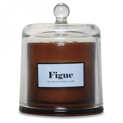Bougie cloche ambre parfum figue boisée