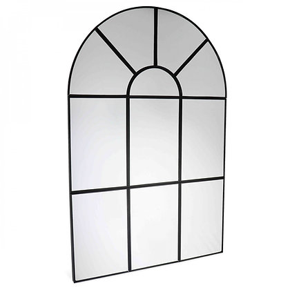 Miroir Intemporel en métal noir