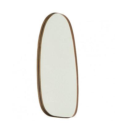 Miroir galet bronze