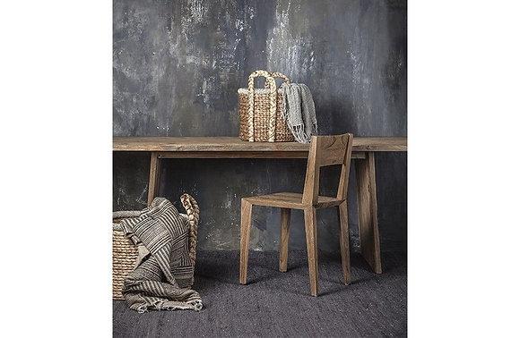 Table à manger en bois naturel de teck