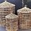 Thumbnail: Panières en jacinthe d'eau tressée