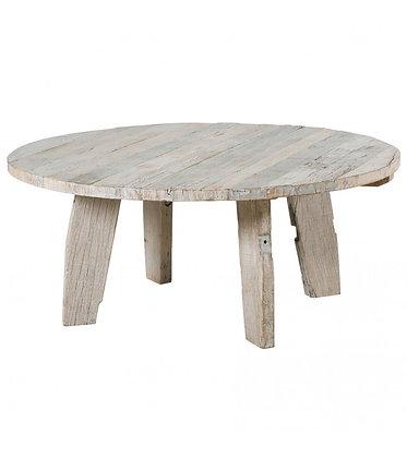 TABLE REPAS BLANCHI EN BOIS BRUT
