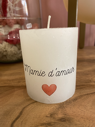 BOUGIE MAMIE D'AMOUR
