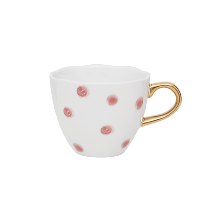 Tasse Good Morning Mini en porcelaine  à pois rose