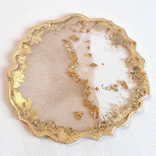 Resin Coasters Gold