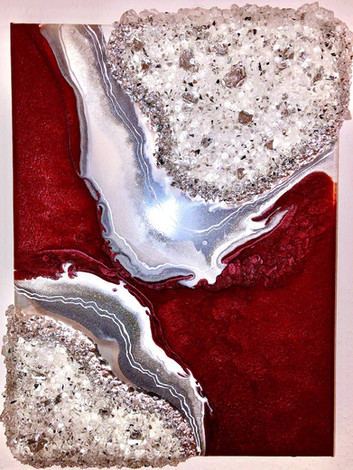 Abstract Resin Geode Painting