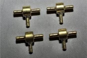 JMP T-Fittings Brass (4 per pack)