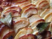 Apple Tart with Hazelnut Frangipane from Marsala Rama