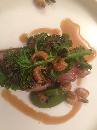 Lamb fillet, grey shrimp, charred Kale - review of the Paris restaurant, David Toutain