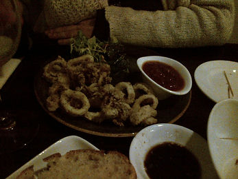 Salt and pepper squid - Restaurant review of the South West restaurant, The Elephant