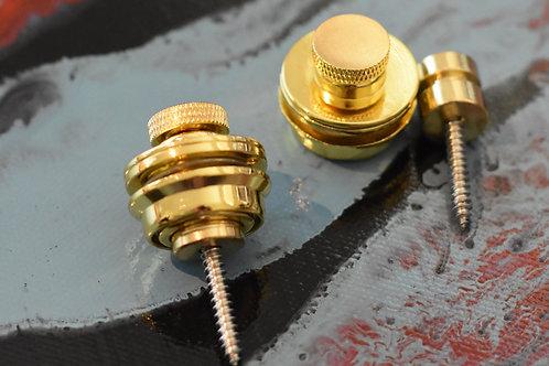 Strap Locks flat Head SET Gold (2)