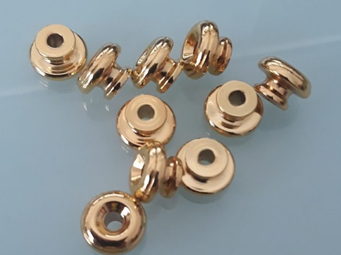 Large Head Strap Buttons Set Gold (2)