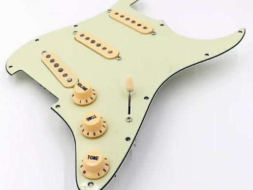 Pickguard Loaded Strat Plate Alnico Mint Green