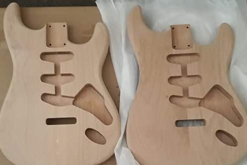 Strat Style Body Alder No Finish