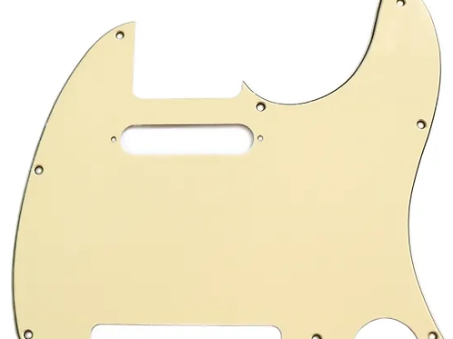 Telecaster Style Scratchplate Vintage Yellow