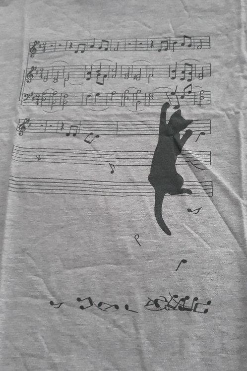 Cat Musical Notes SHIRT
