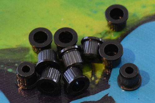 Ferrules Body 10mm BLACK Pack of 6
