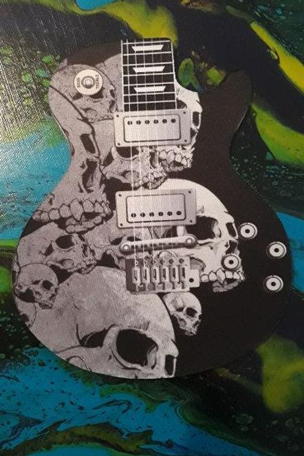 Guitar Mouse Pad Skulls