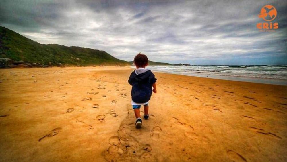 Praia da Galheta Crisstilben Cris pelo Mundo Floripa Florianópolis, Floripa com crianças
