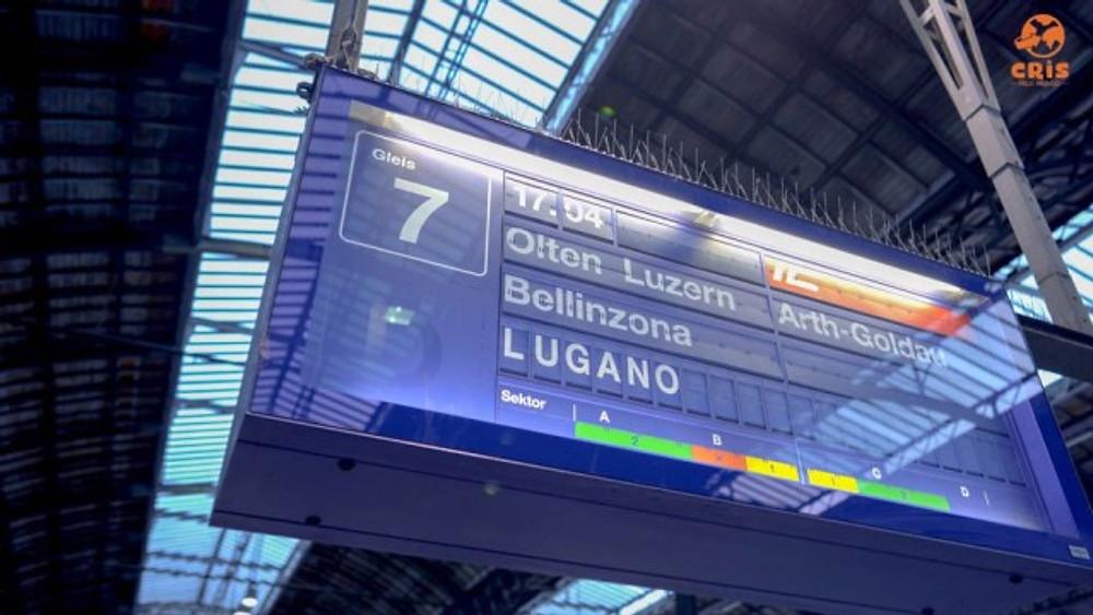 PLATAFORMA DE TREM NA EUROPA E TELINHA DE INFORMACAO