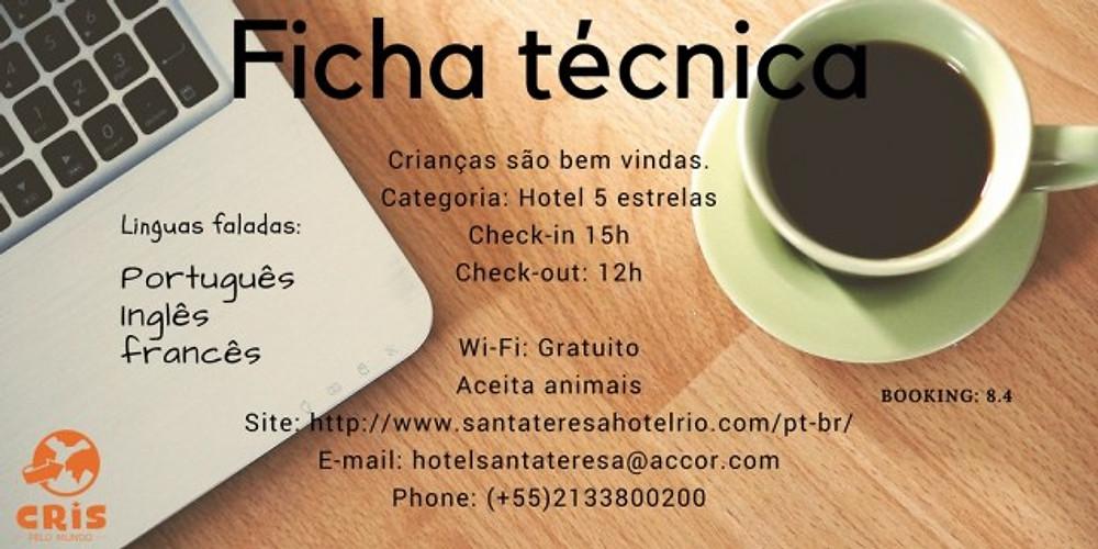 FICHA TECNICA HOTEL SANTA TERESA CRIS PELO MUNDO CRISSTILBEN