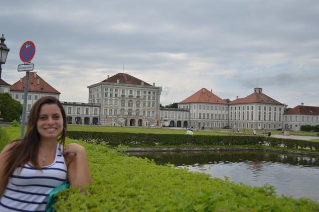 Cris no palácio Nymphernburg