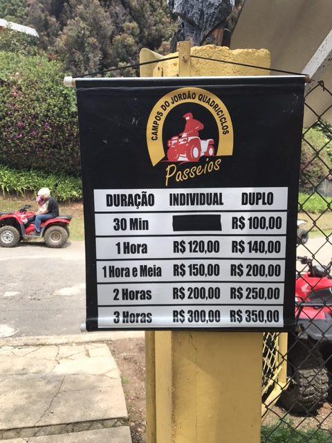 CAMPOS DE JORDAO PREÇOS