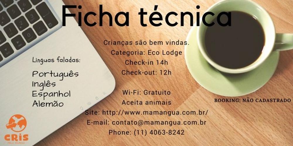 MAMANGUA ECO LODGE FICA TECNICA HOSPEDAGEM SACO DO MAMANGUA