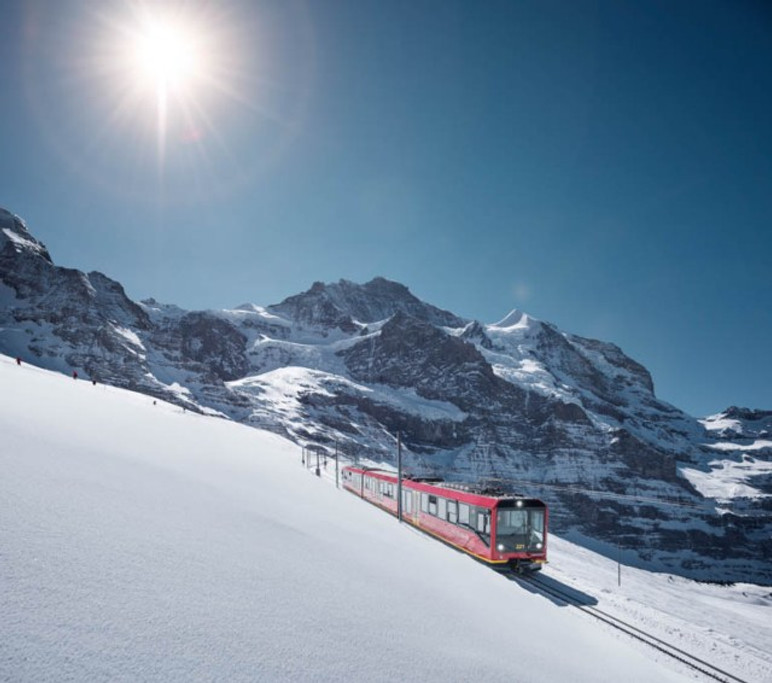 Jungfraubahn, vor der Jungfrau, Berner Oberland / Jungfrau Railw