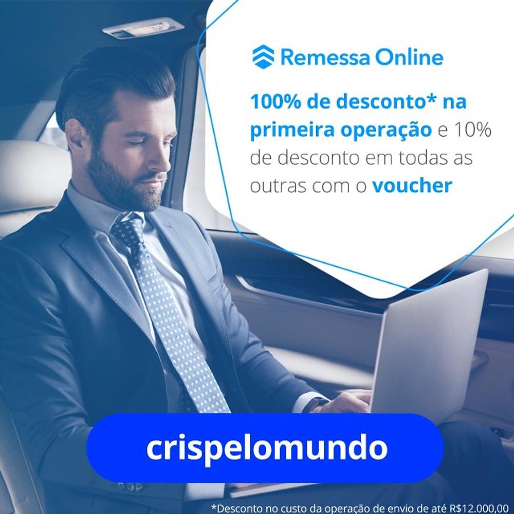 REMESSA ONLINE CRISPELOMUNDO DESCONTO NA TAXA VOUCHER CUPOM