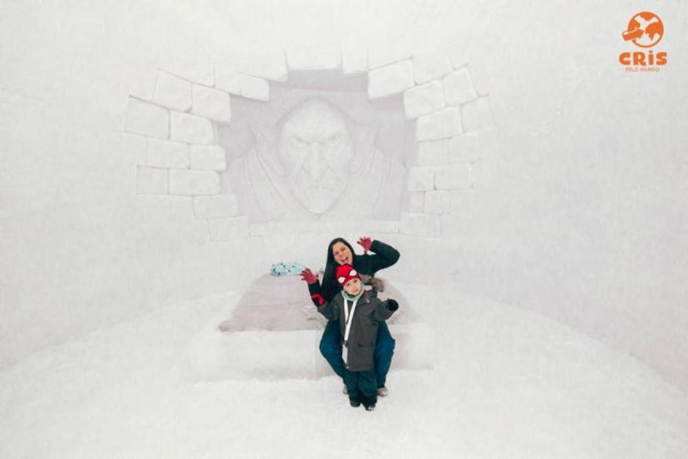 SNOW CASTLE KEMI CASTELO DE GLEO FINLANDIA HOTEL PARA VER A AURORA BOREAL COM CRIANÇA
