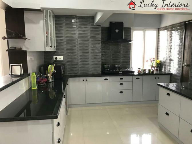 L-Shaped Kitchen Interior