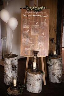 Tablica powitalna na sali Siedem Drzew