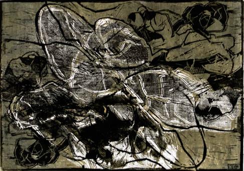 Akt Linoldruck 2009